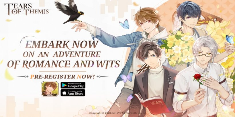 Tears of Themis, miHoYo's romance detective game, is heading for iOS and Android later this month