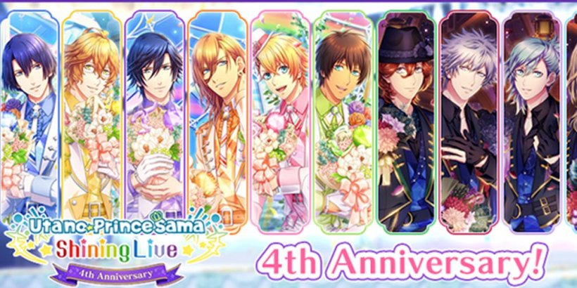 Utano Princesama Shining Live adds countdown missions and a Twitter giveaway to its 4th-anniversary celebrations