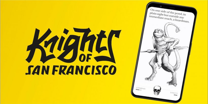 Knights of San Francisco, the text-based RPG, is now out for iOS and Android