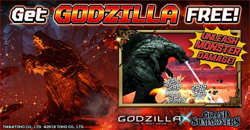 Grand Summoners: Everything you need to know about the upcoming Godzilla collab