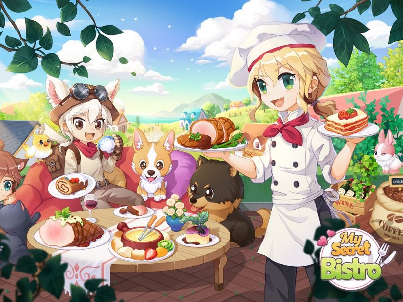 My Secret Bistro is a delightful cooking game that lets you design a restaurant and cook dishes with friends