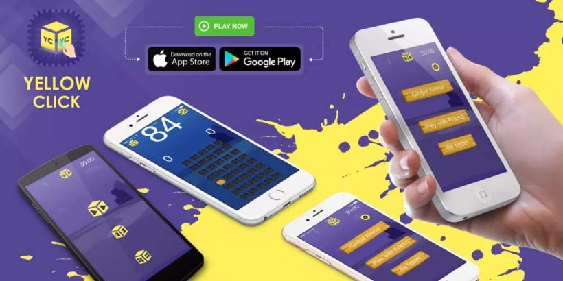 Yellow Click 2 is a casual game where you compete to tap yellow buttons the fastest, now open for pre-registration on Google Play