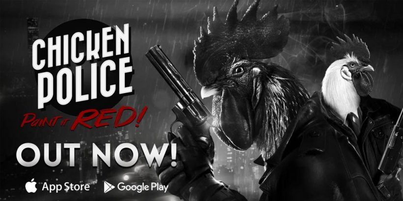 Chicken Police - Paint It Red! is a noir-inspired detective visual novel out now on iOS and Android