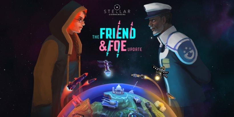 Stellar Commanders: Friend & Foe is an upcoming expansion for Blindflug Studios' strategic Apple Arcade title