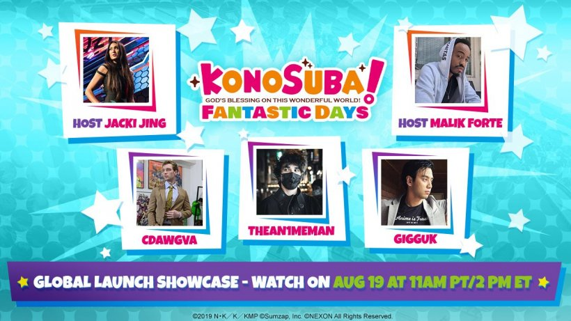 konosuba fantastic days launch event flyer