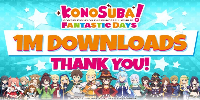 KonoSuba: Fantastic Days reaches one million downloads in just five days