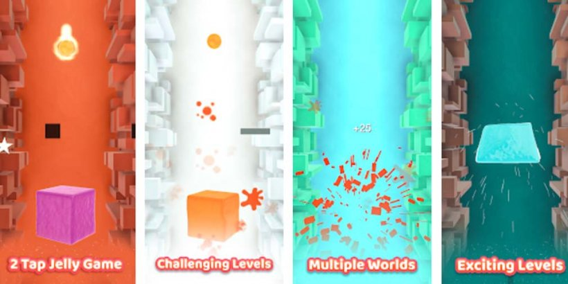 Jelly Ball Splash is a two-tap casual game where you splash jellies, now updated with more realistic splashes