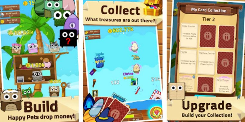 Infinity Island is a relaxing idle game where you collect pets and build your island, out now on iOS and Android