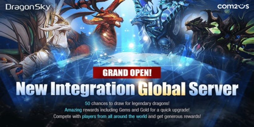 DragonSky, the idle-shooter RPG, adds cross-play for iOS and Android users
