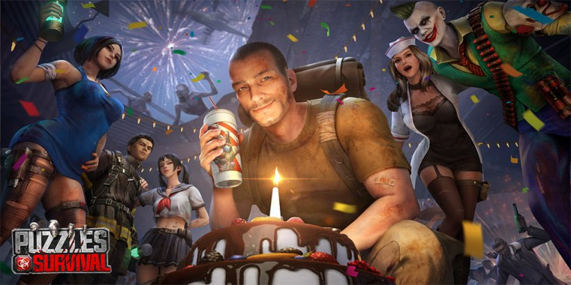 Puzzles & Survival is celebrating its first anniversary with a new zombie-smashing hero, Samuel