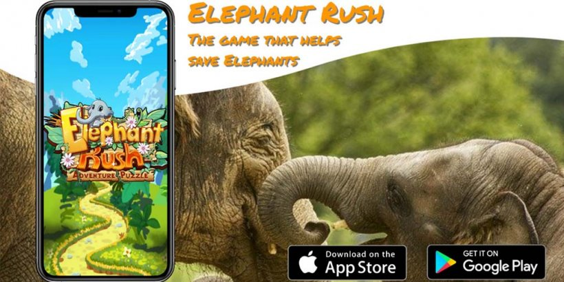 Elephant Rush, the puzzle game that teaches you about elephants in real life, is out now on iOS and Android
