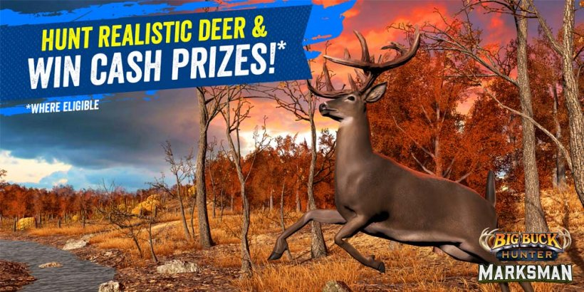 Big Buck Hunter: Marksman is a new competitive title that gives you the chance to win $5,000, out now on iOS and Android