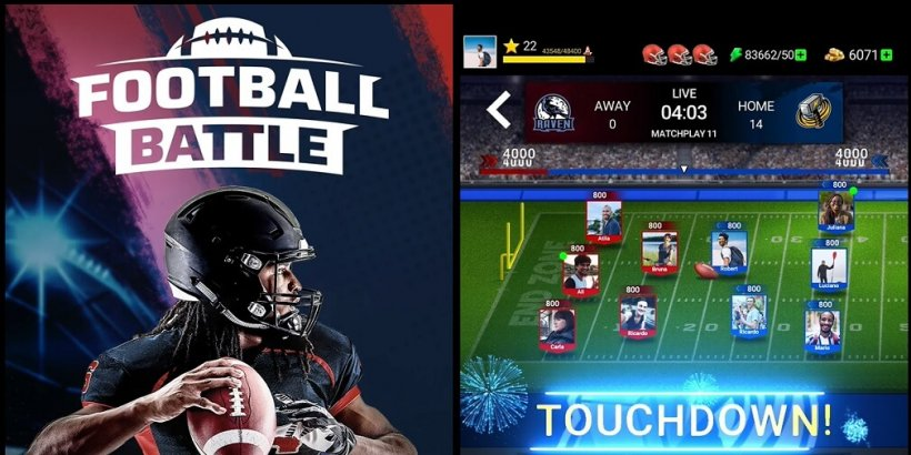 Football Battle - Touchdown! is a card-based football game that is now available in the US for Android