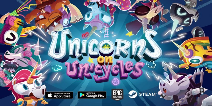 Unicorns on Unicycles is a wild multiversal ride that is available now on iOS and Android