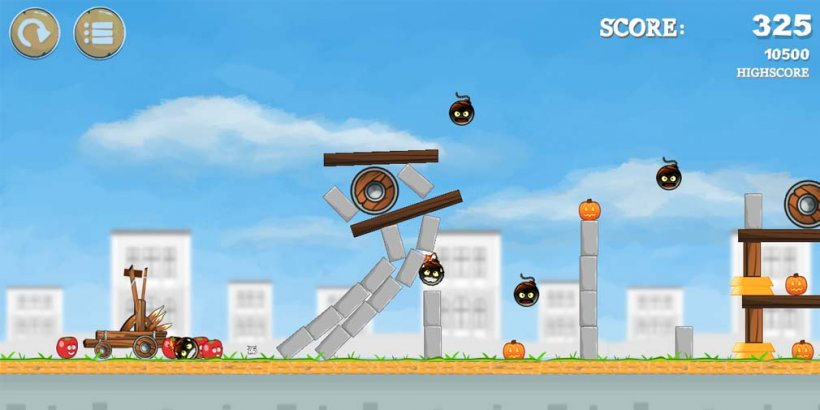 Pumpkins knock down is a new physics-based slingshot game out now for Android devices