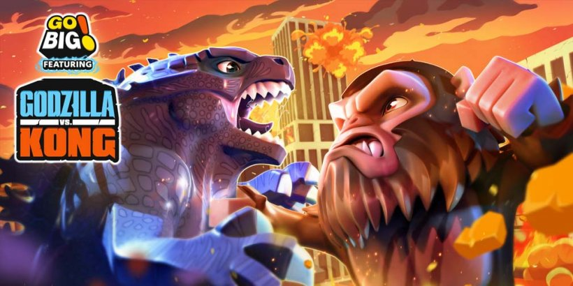 Go BIG! feat. Godzilla vs Kong lets you rampage around as one of the two iconic Titans in a new action game, out now on iOS and Android