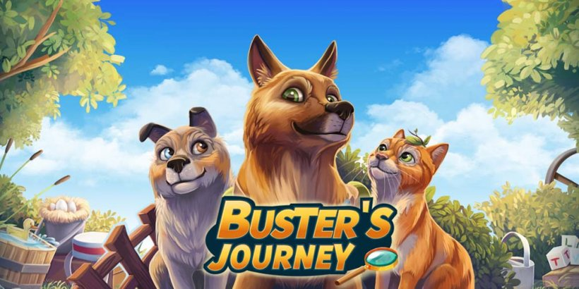 Buster's Journey is a hidden object game where you help animals in distress as a rescue doggo, out now on iOS and Android
