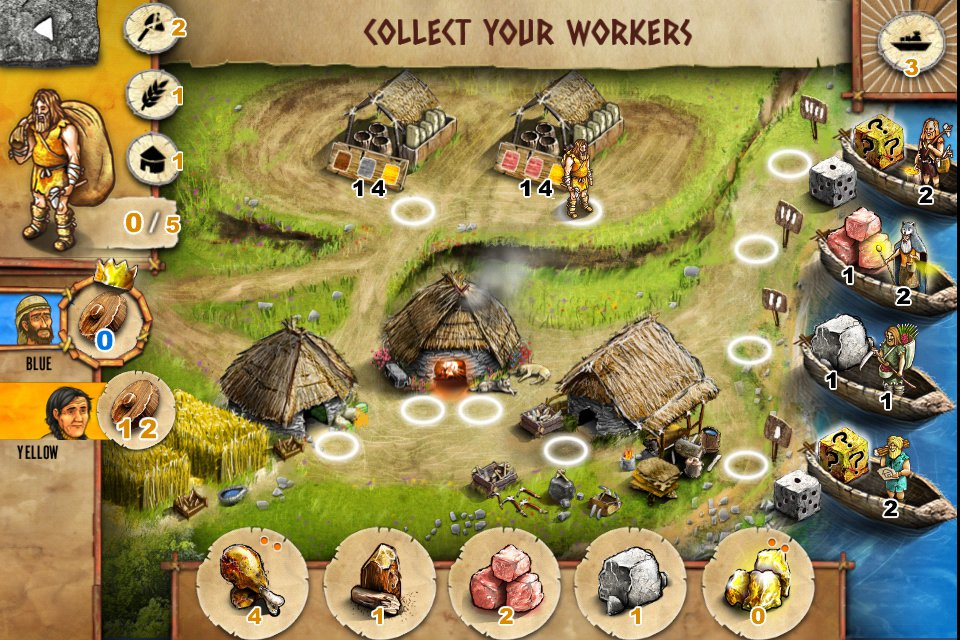 Gold Award-winning boardgame adaptation Stone Age is on sale for iPhone and iPad