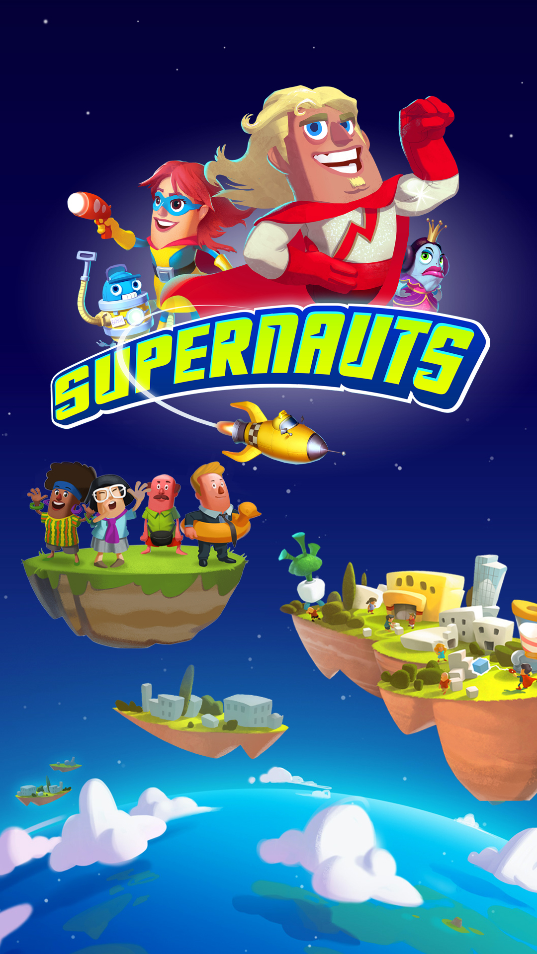 Supernauts Samsung Galaxy S4 & Sony Xperia Z Wallpaper