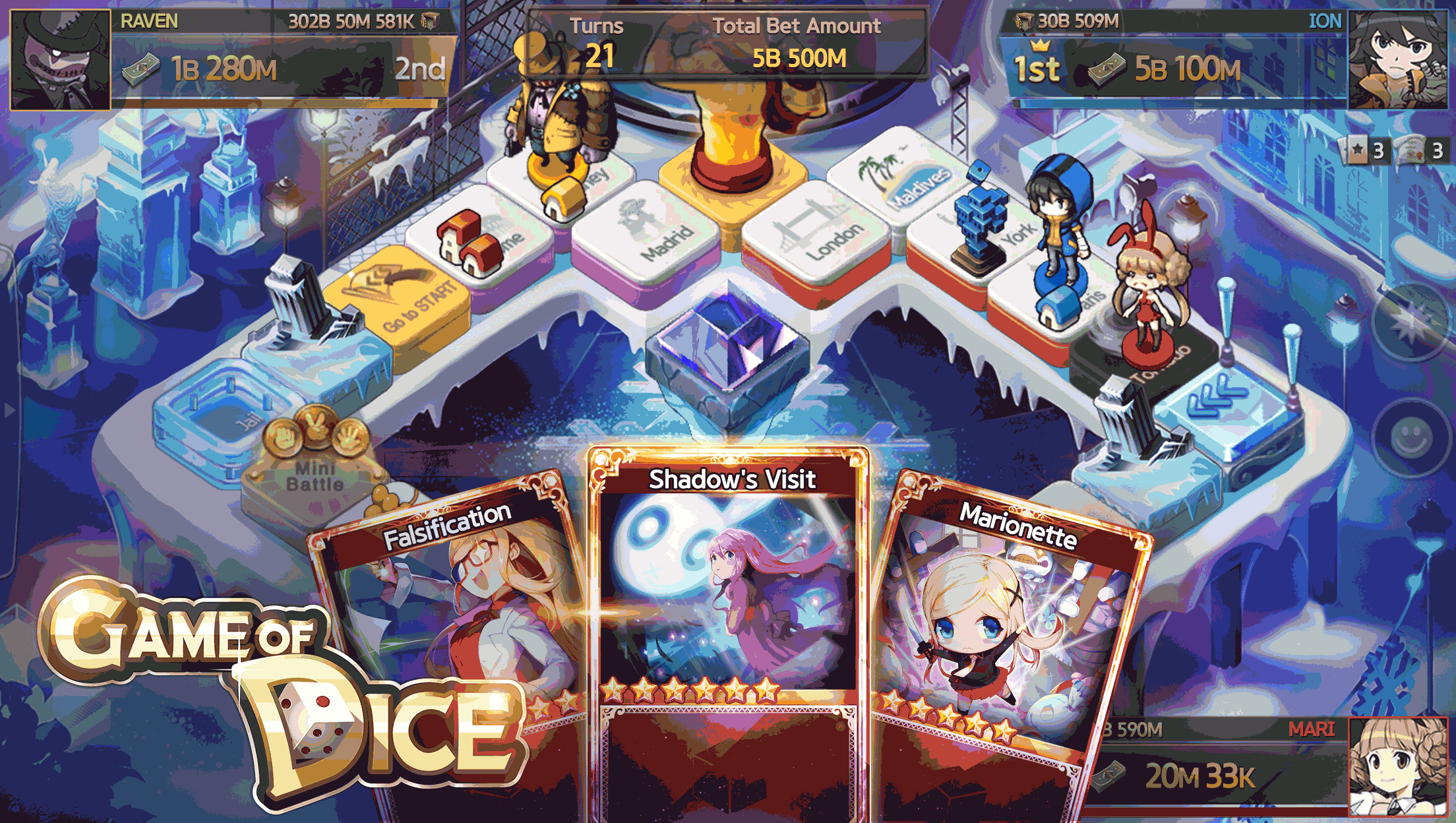 Game of Dice's winter update will have you rolling in a winter wonderland