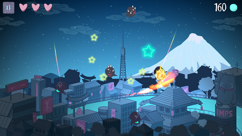 Imps In Tokyo is about catching dreams and dodging a big bad dragon, coming to iOS