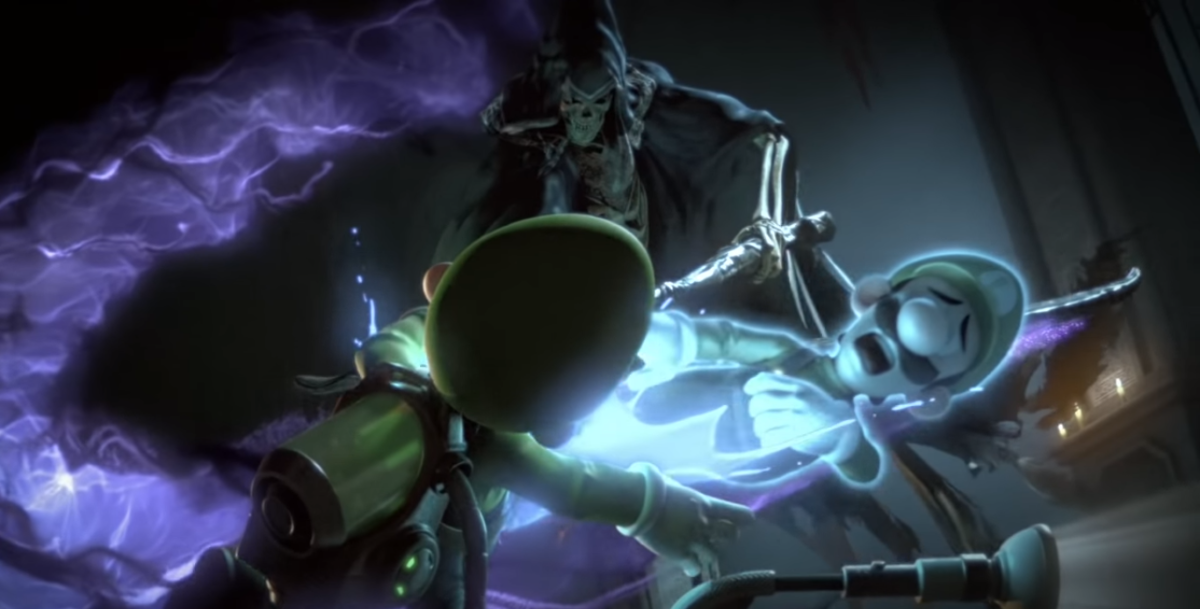 Nintendo attempts to reassure us that Luigi is fine despite him clearly being killed by the Grim Reaper