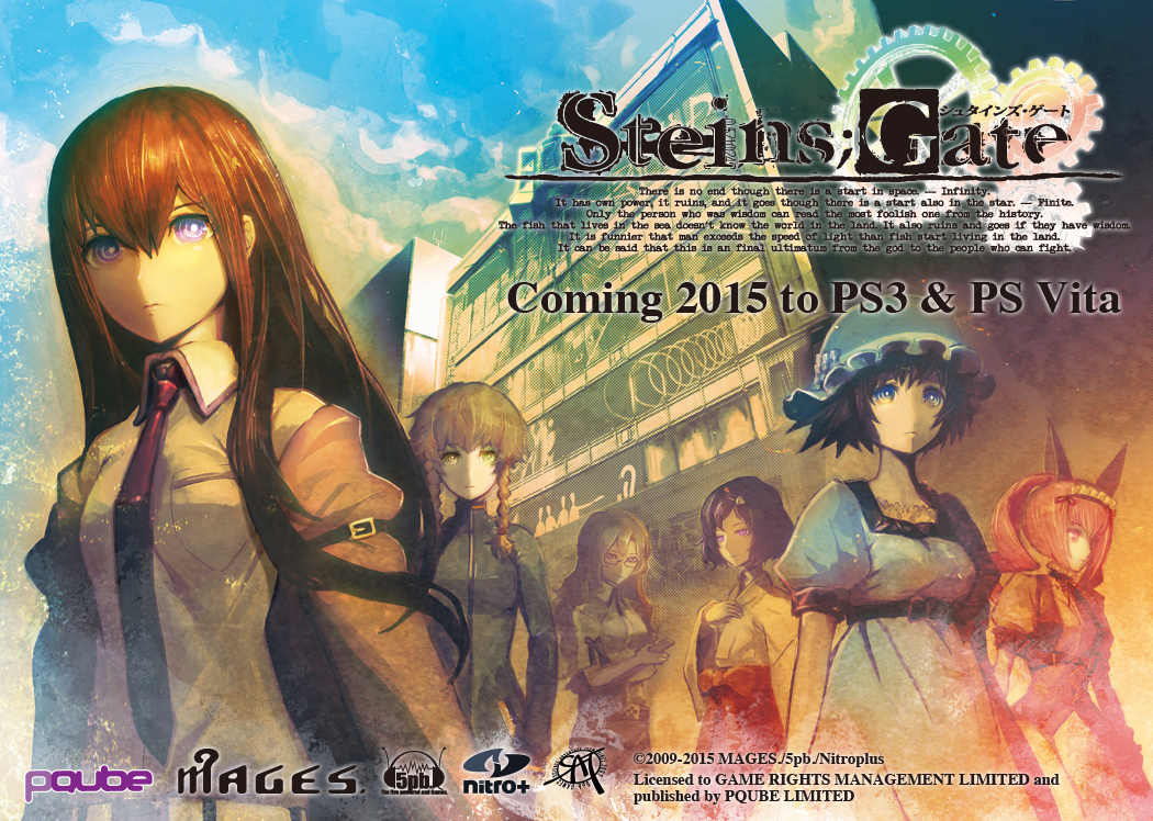 Acclaimed sci-fi visual novel Steins;Gate is out now for PS Vita in Europe