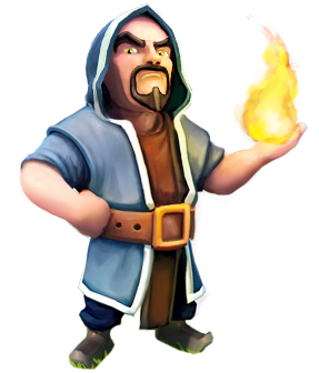 Wizard - soldier stats and troop tactics in Clash of Clans