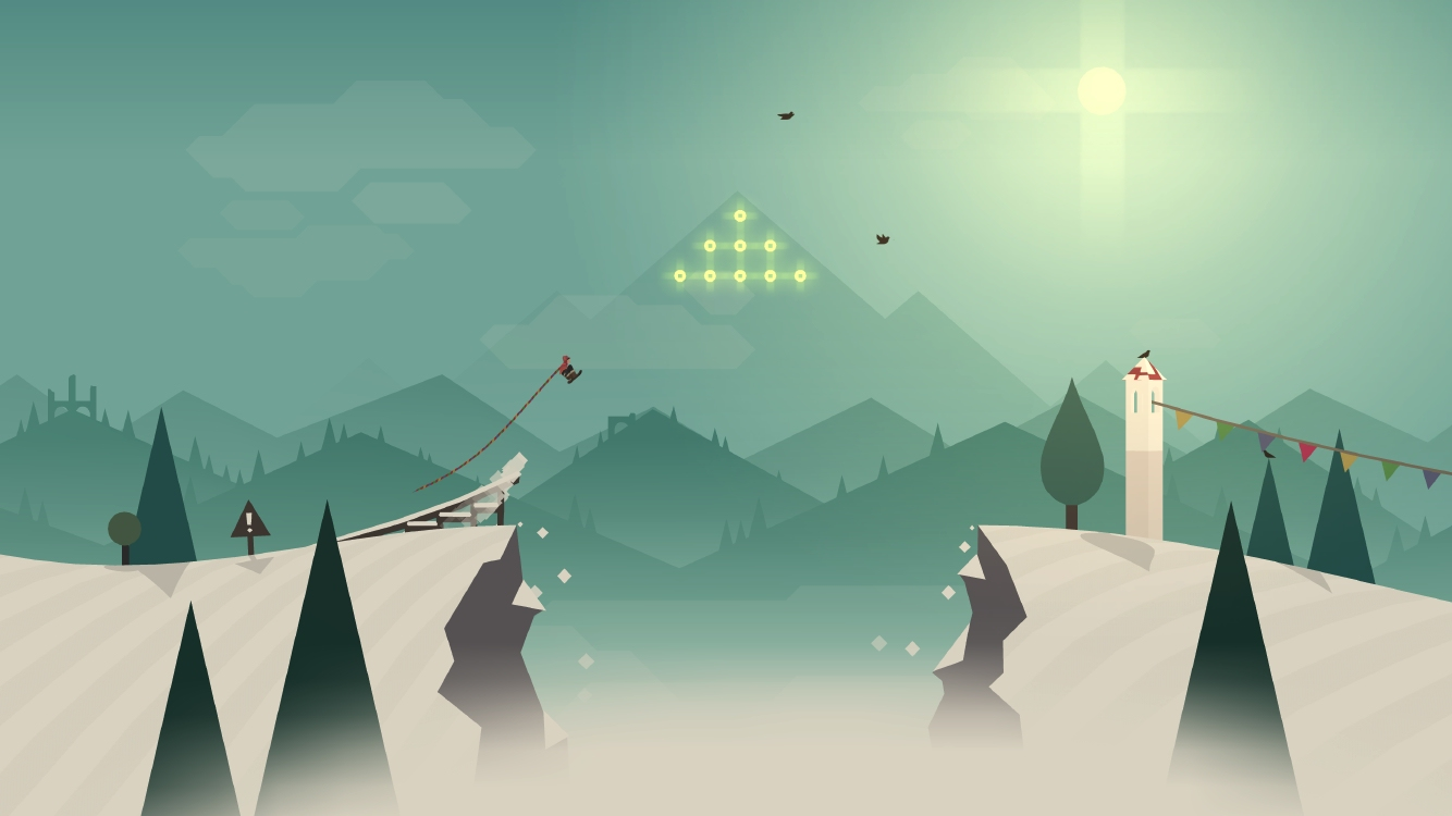 Hands-on with Alto's Adventure - chasing llamas on a snowboard across beautiful mountainsides