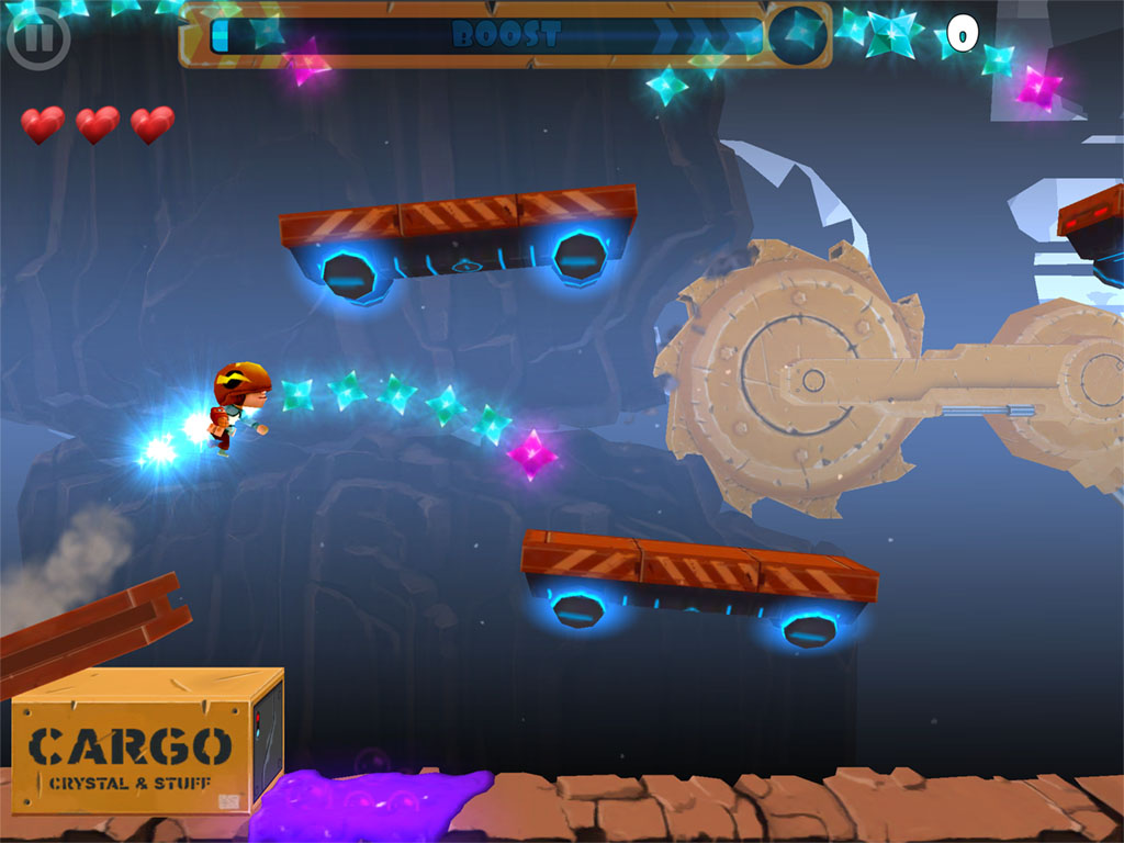 Chillingo's one-touch platformer Rock Runners will charge onto iOS at midnight
