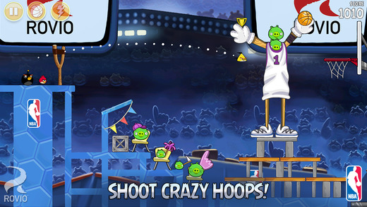 Shoot hoops in new NBA-themed levels in the 'Ham Dunk' update for Angry Birds Seasons