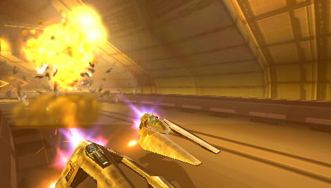 First multiplayer WipEout Pulse PSP screenshots