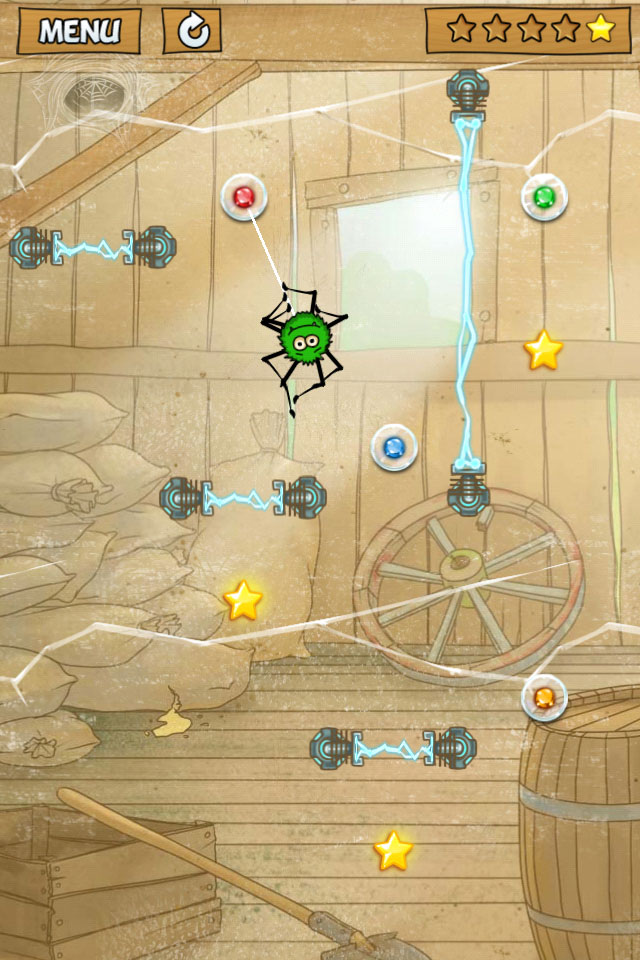 Clickgamer's Cut the Rope-esque Spider Jack crawls onto iPhone and iPad