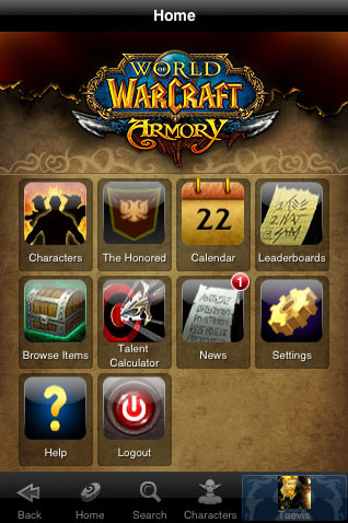Official World of Warcraft app released for iPhone
