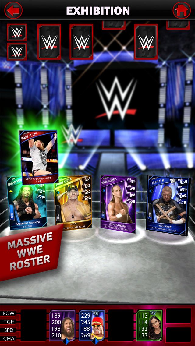 Out at midnight: WWE SuperCard is a card battler set in the WWE universe for iPad and iPhone