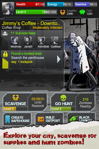 Zombie-filled iPhone MMORPG Please Stay Calm now eating brains in the US