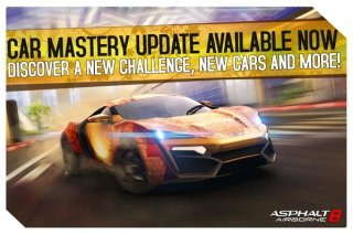Asphalt 8: Airborne update adds 1500 new challenges and 8 new cars on iOS