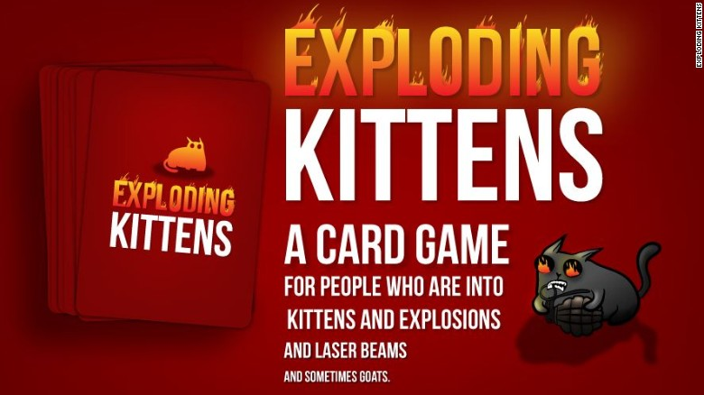 Kickstarted card game Exploding Kittens updated with promised online multiplayer support