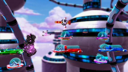 Explode your way through obstacles and enemies in Ms. Splosion Man for iOS