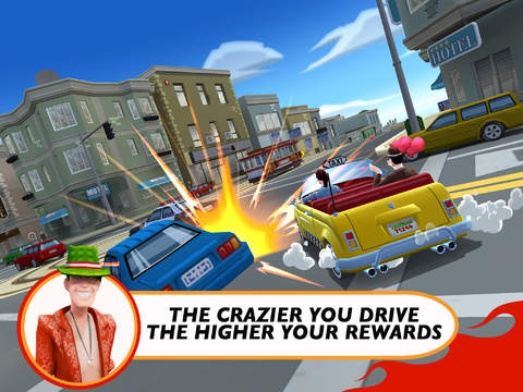 Crazy Taxi: City Rush updated with 'Hills' district, 5 new taxis, and more