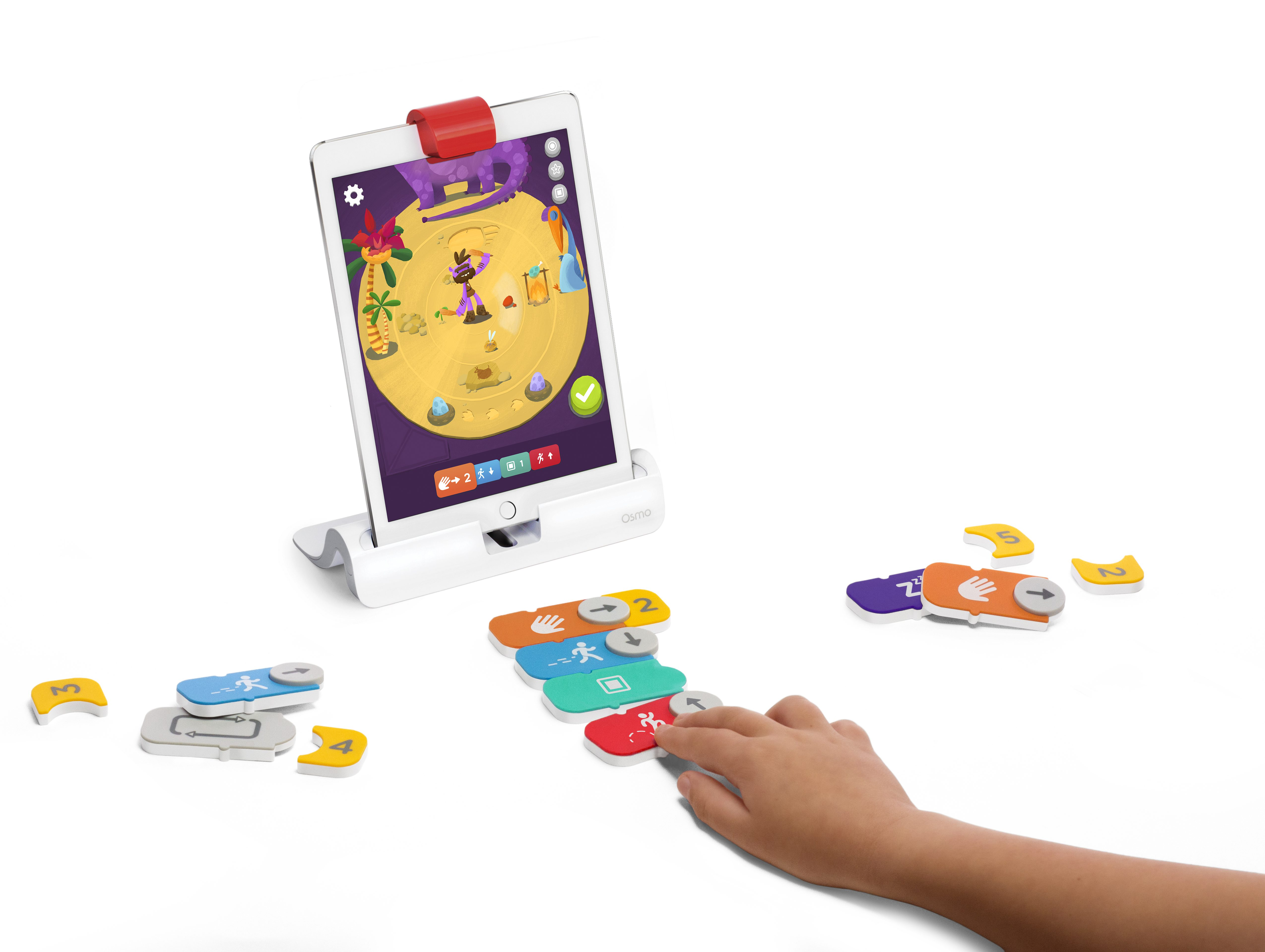 Osmo Coding Jam is a unique rhythm game that uses real blocks to teach kids how to code