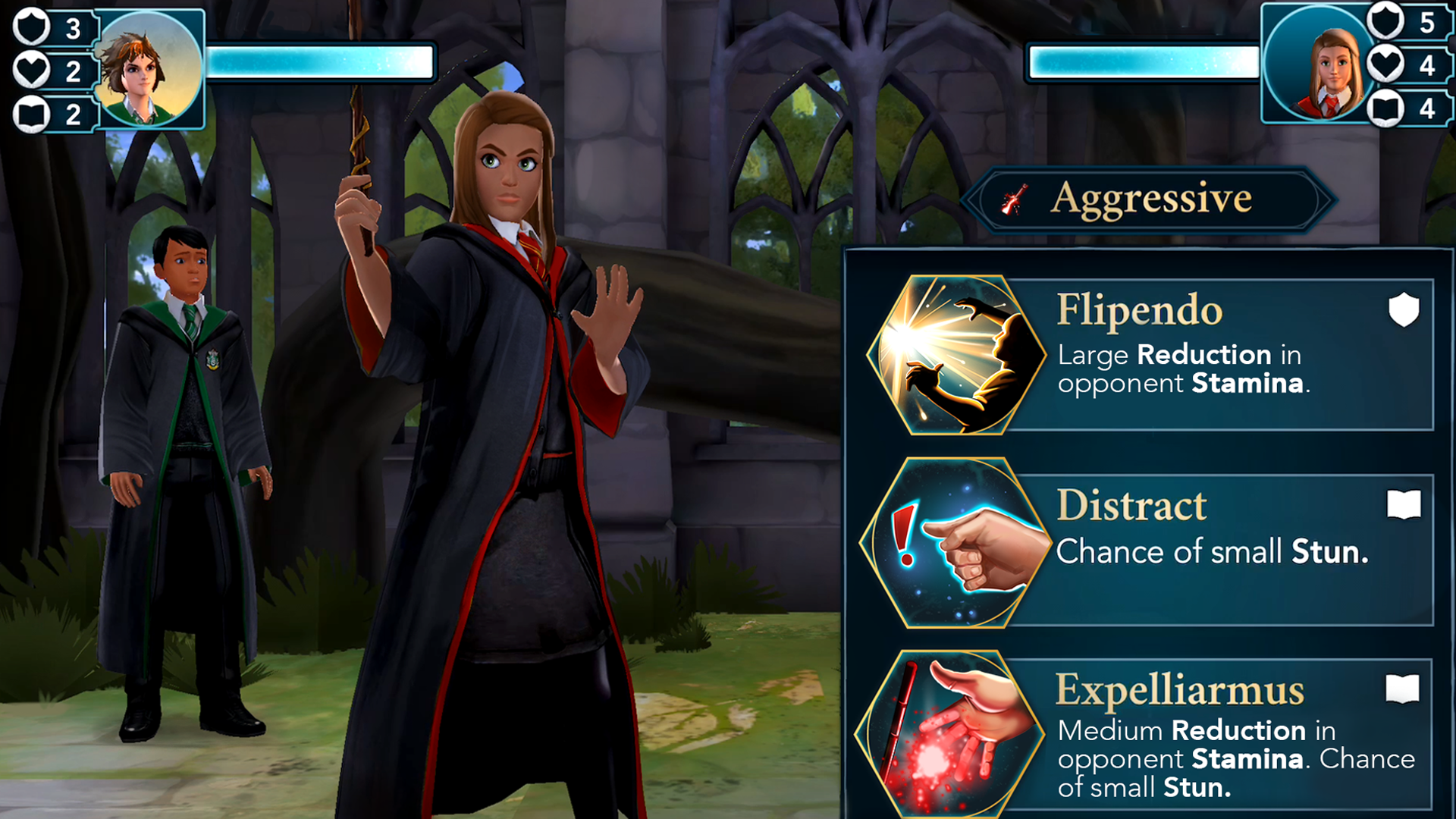 Duel against other players in Harry Potter: Hogwarts Mystery's limited-time event