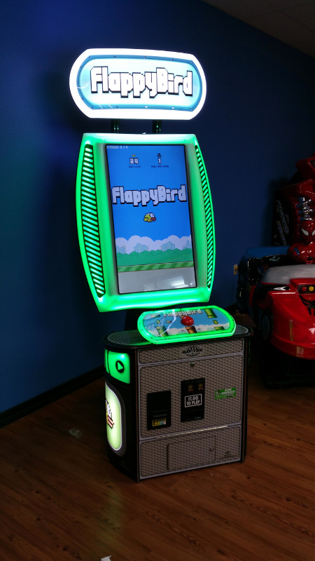 Flappy Bird is now playable in arcade-machine form, the world is collapsing in on itself