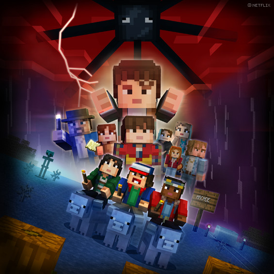 Stranger Things comes to Minecraft in the sandbox game's latest skin pack