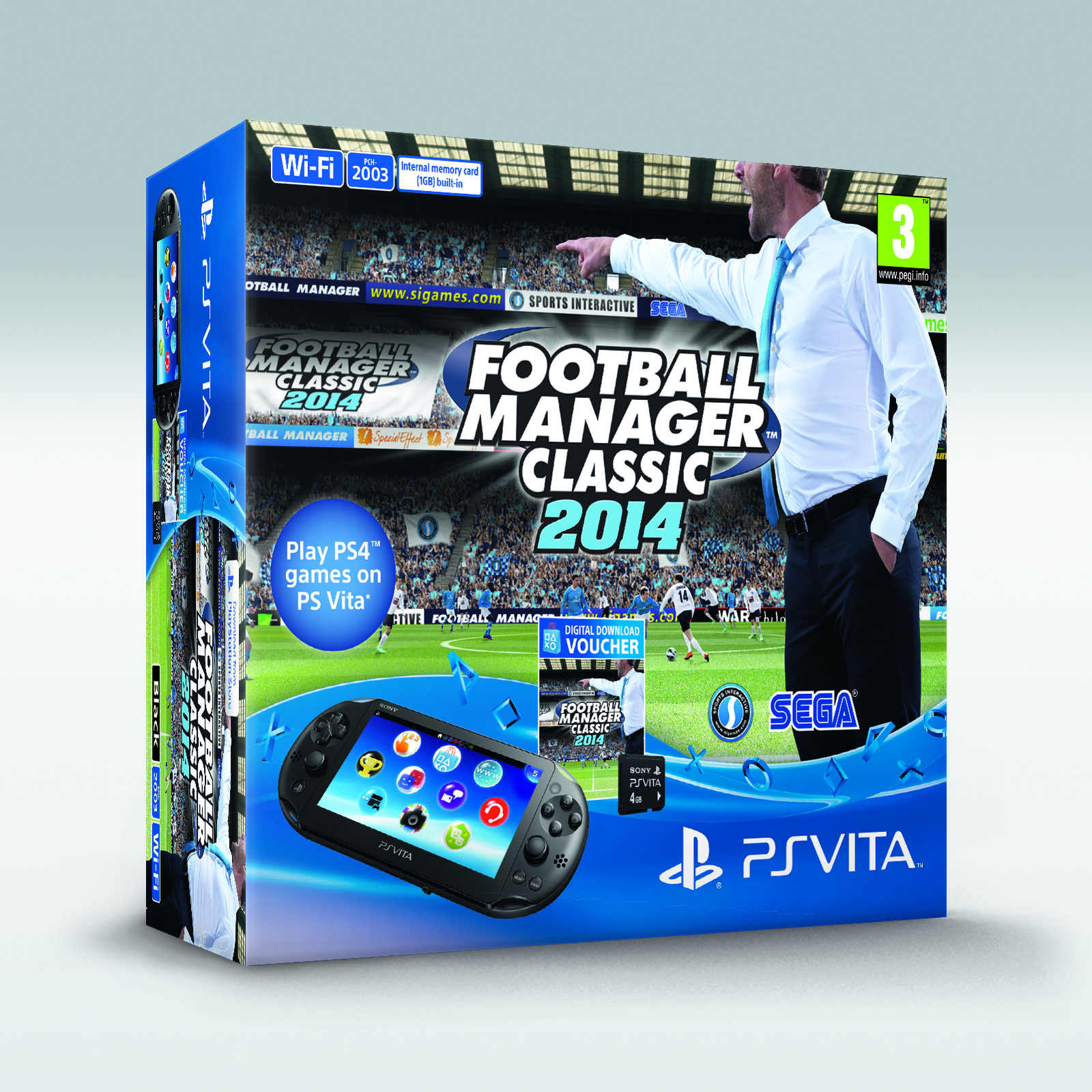 Sports Interactive will kick off sales of its Football Manager Classic 2014 PS Vita bundle in UK stores on April 17th