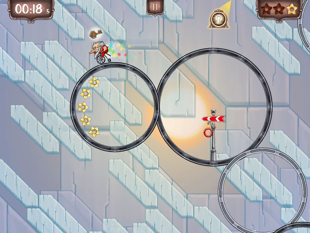 Out at midnight: Sprint around a series of interconnected circus circles in Ring Run Circus for iPhone and iPad
