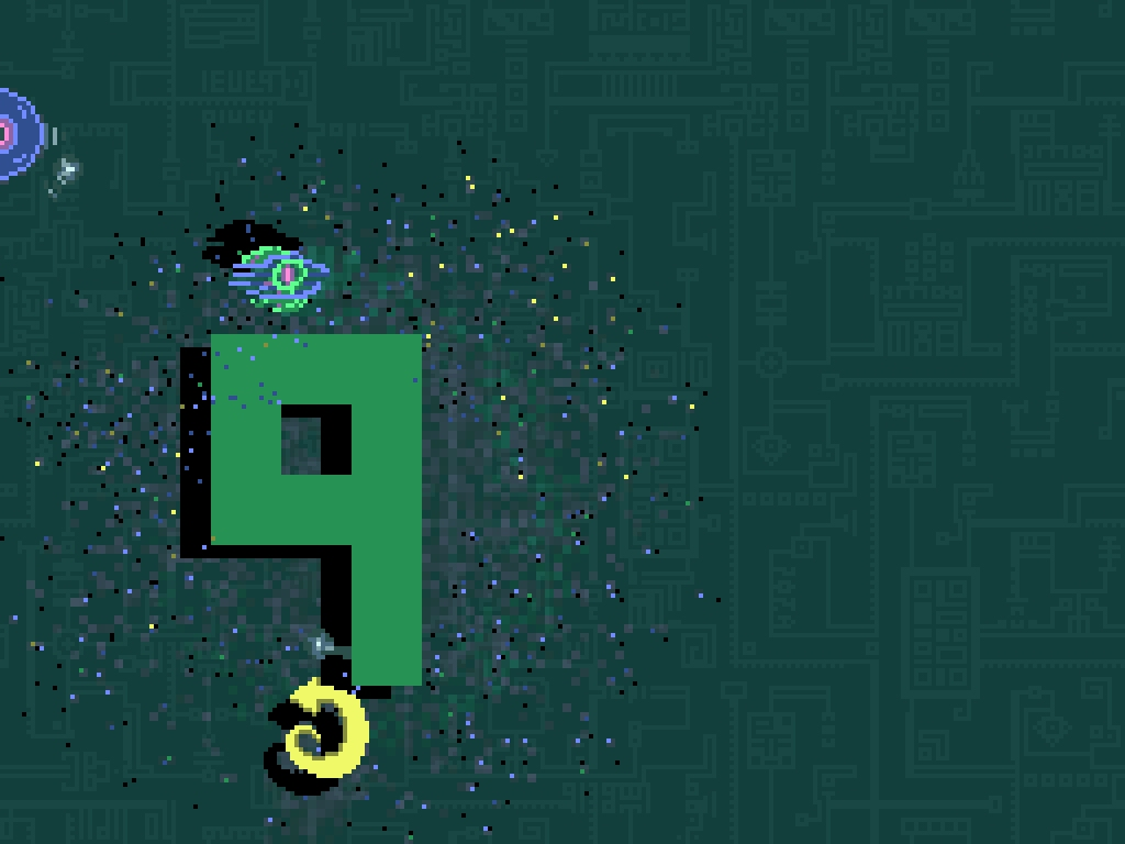 Michael Brough's terror-spinning arcade game Helix comes out on iOS on October 16th