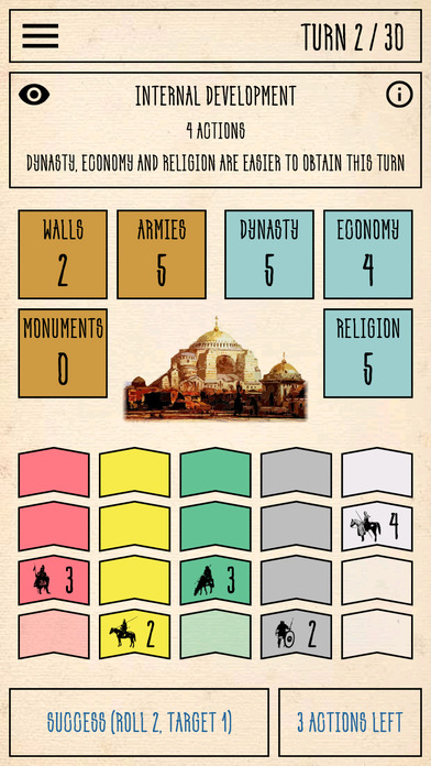 Constantinople is a solo board game spanning an empire that's on sale right now for iPhone and iPad