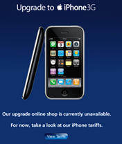 O2 online store struggling with 3G iPhone upgrade traffic