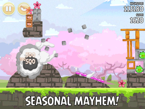 Angry Birds Seasons Cherry Blossom update now available on iOS and Android